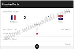 Skor Pertandingan Kroasia vs Prancis 2018