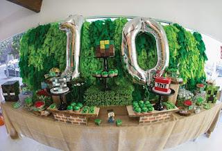 Fiestas Infantiles Decoradas con Minecraft