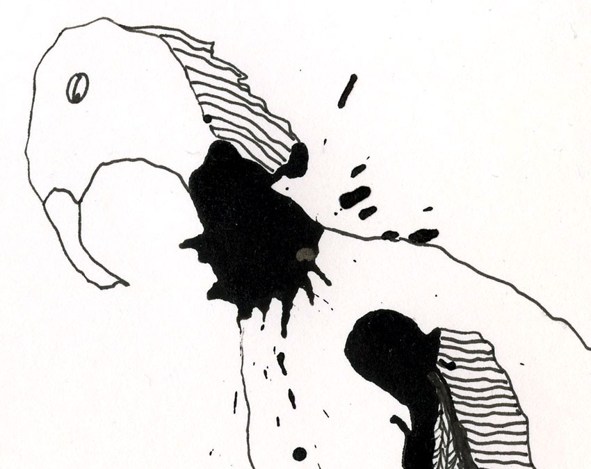365 Projects: More Ink Blot Monsters Drawings Day 3 Creatures