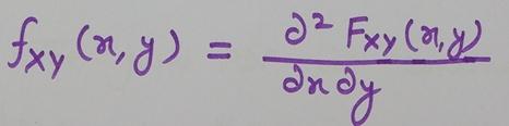 Joint PDF Formula, joint Probability density function formula