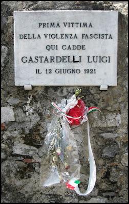 Fatti di Sarzana  Memorial to Fascist Victim