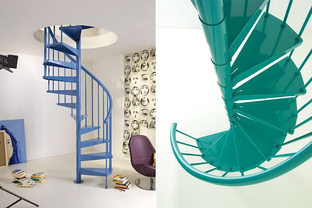 metal spiral stairs for small houses
