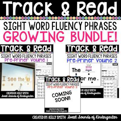 Sight word fluency phrases- PowerPoints & Printables!