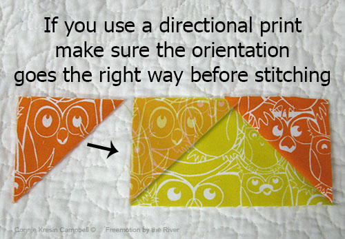 Careful using a directional fabric