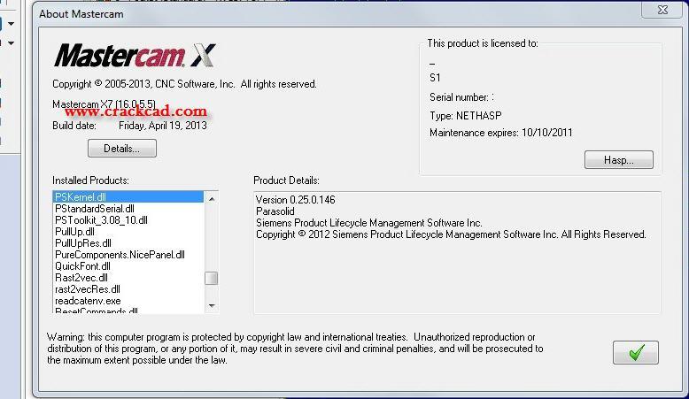 Mastercam X7 Sim Crack