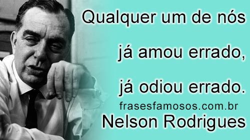 Frases Nelson Rodrigues