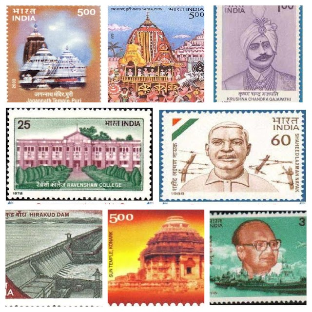 Odisha in Indian philatelic history