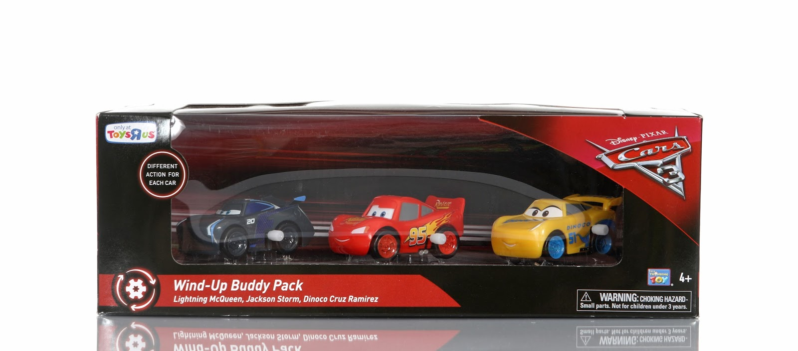 pixar cars 3 wind-up toys thinkway