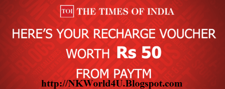 Times of India App & Get Rs. 50 Mobile Recharge