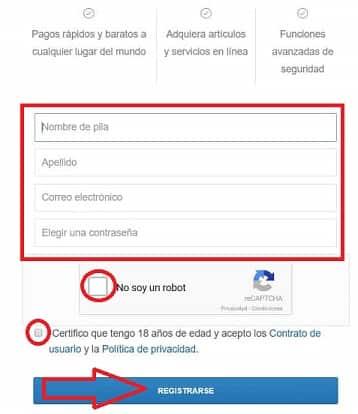 registro en coinbase formulario paso a paso guía