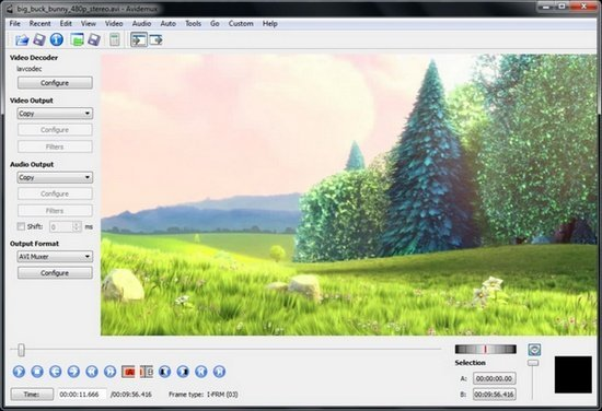 Tampilan Software VSDC Avidemux
