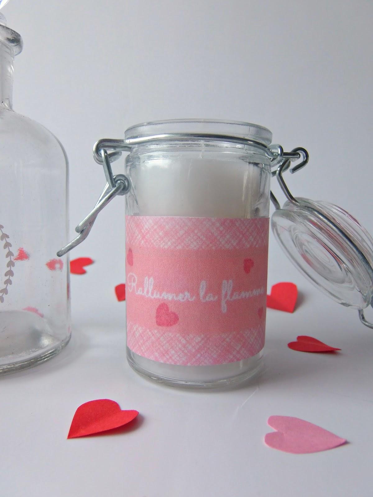 Des bougies parfum es fait maison saint valentin truc tricks - Bougie fait maison ...