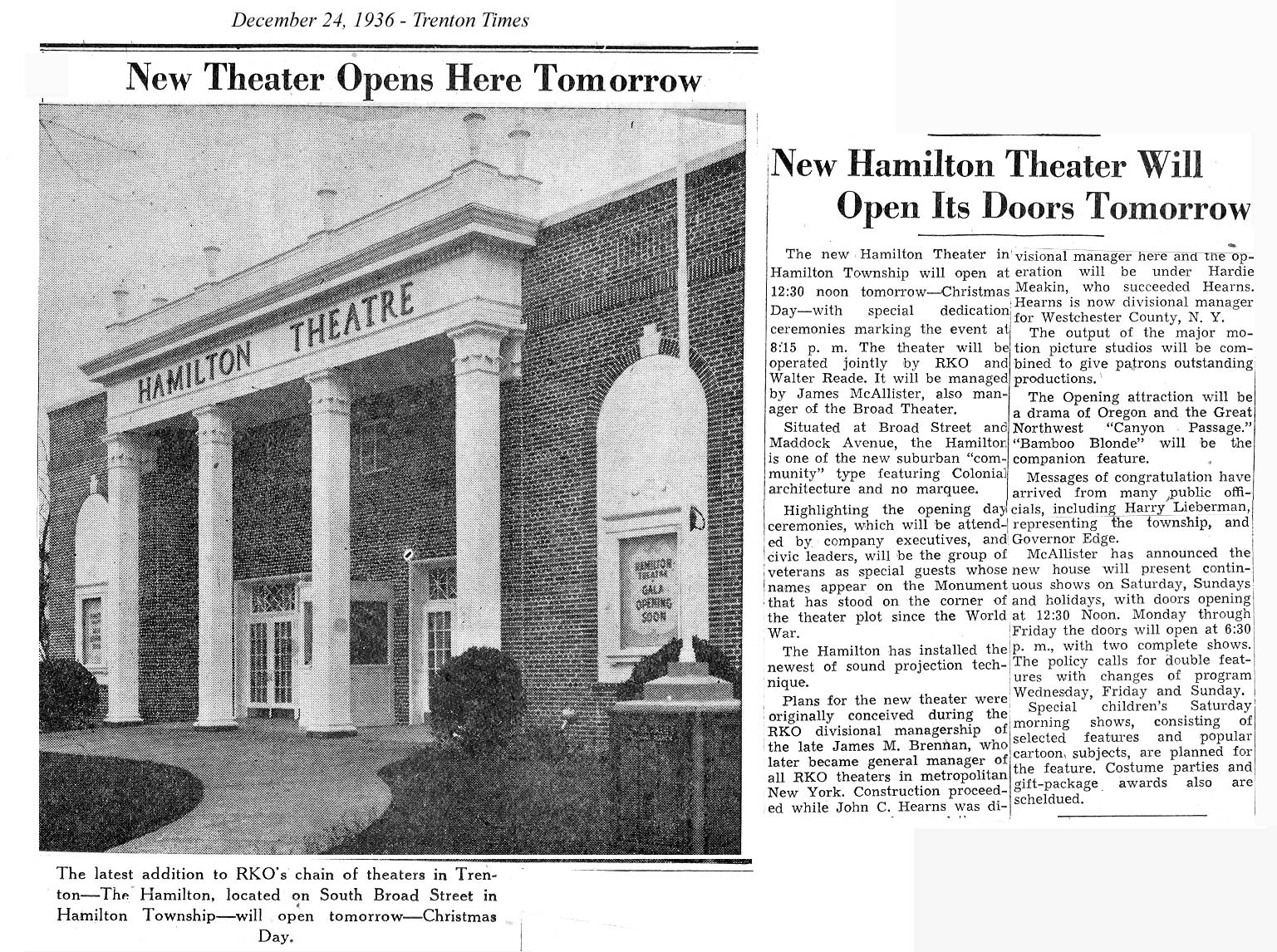 TOM GLOVER'S HAMILTON LIBRARY SCRAPBOOK: LOCAL HISTORY WITH A
