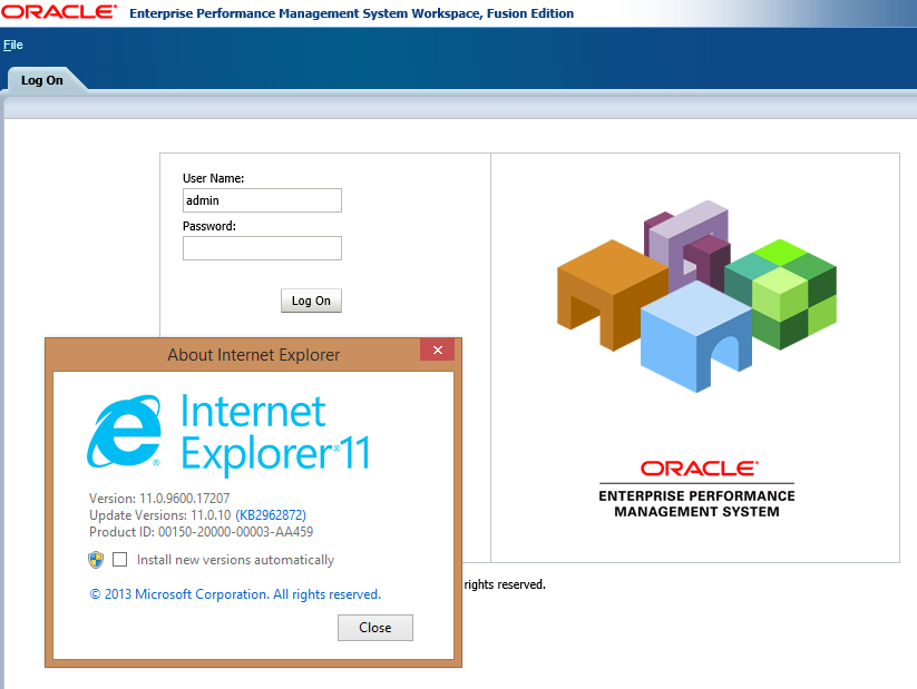 Using Windows 8 1 and Internet Explorer 11 with Oracle EPM | ONE BIG