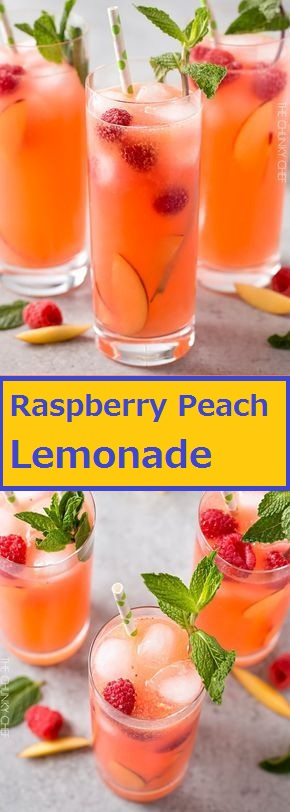 Homemade Raspberry Peach Lemonade
