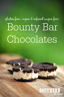 Healthy Homemade Bounty Bar Chocolate Recipe