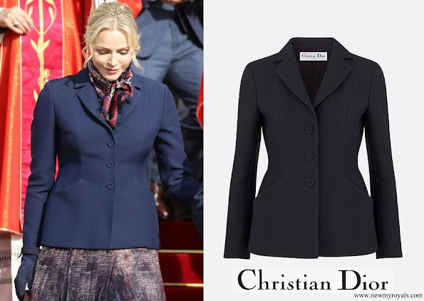 Princess Charlene wore Dior Bar Jacket