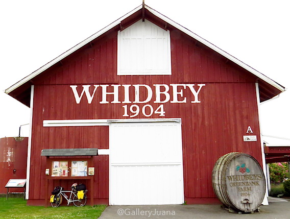 whidbey island, bicycle touring