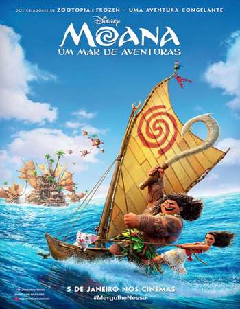 Poster Of Moana 2016 English 450MB BluRay 720p ESubs HEVC Free Download Watch Online downloadhub.in