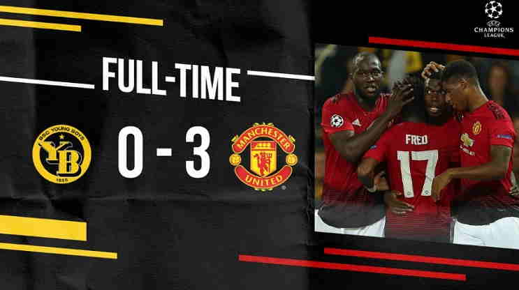 Hasil Young Boys vs Manchester United Skor Akhir 0-3