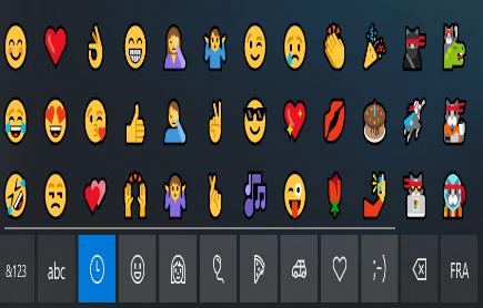 رموز تعبيرية emoji داخل نظام تشغيل ويندوز بدون برامج ( ويندوز 10 )