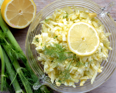 Insalata di Finocchio aka Fennel Salad, a classic Italian salad with fennel and cooked egg ♥ A Veggie Venture. Weight Watchers Friendly. Low Carb. Quick and Easy.