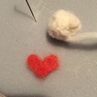 nålfiltning ull pyssel tova ull