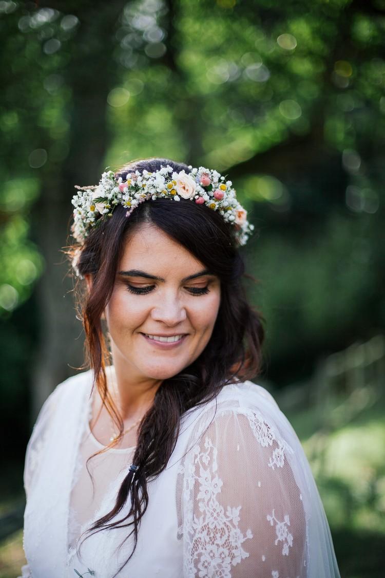 Flower headband, fleuriste mariage Lyon, La petite boutique de fleurs, Lyon wedding florist