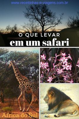 Planejamento de viagem: o que levar em um safari