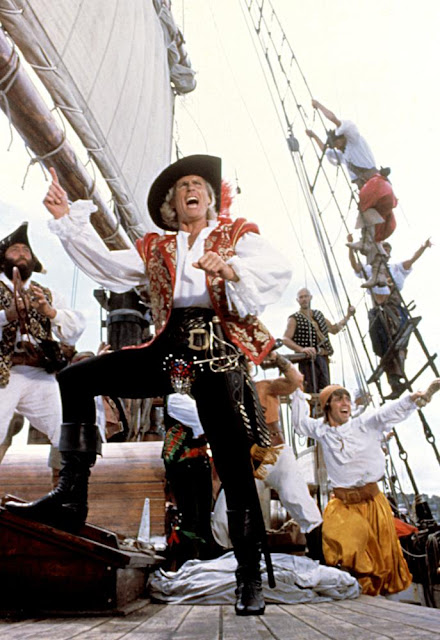 Ted Hamilton as The Pirate King in The Pirate Movie, 1982. Costumed with an oversized and jeweled codpiece. Freelance Piracy marchmatron.com