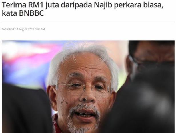 RM1 Juta Dari Najib
