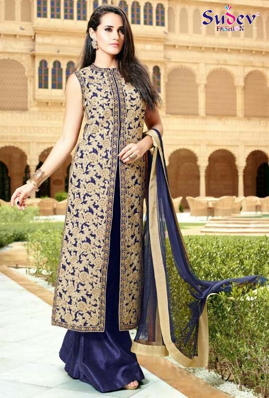 60fc1280214 Designer Party Wear Palazzo Salwar Suit Online Collection 2016 ~ Buy ...