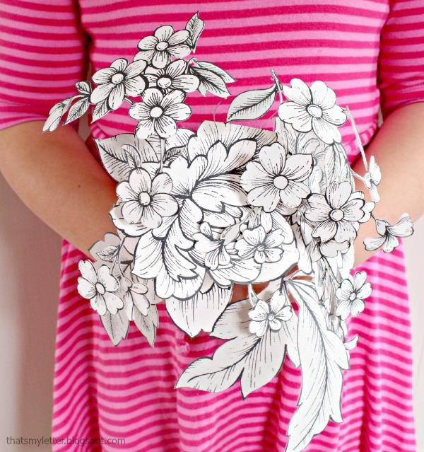 wallpaper paper bouquet