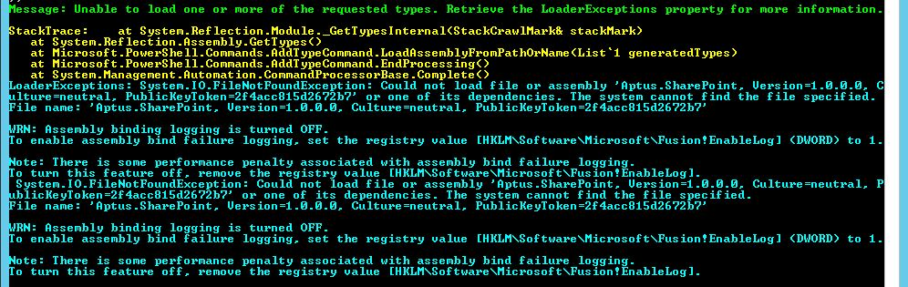 SharePoint Trenches: Troubleshoot PowerShell Add-Type Load