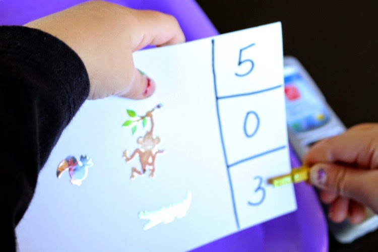 rainforest themed preschool counting clip cards