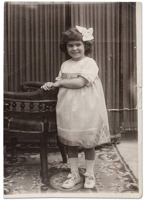 Frida Kahlo at 4 years of age, by Guillermo Kahlo, 1911