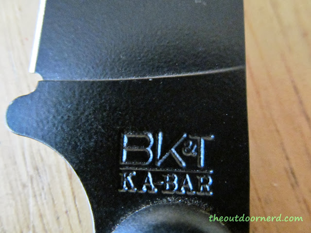 Ka-Bar Becker BK14 Eskabar Fixed Blade Knife: Closeup Ka-Bar Stamp