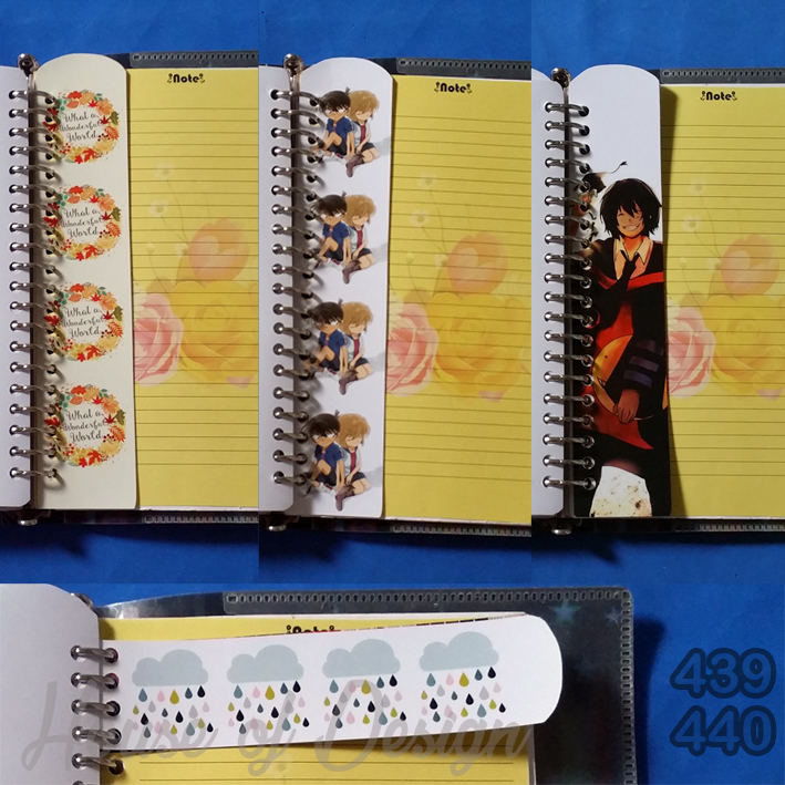 RULER DIVIDER BINDER CUSTOM, PENGGARIS BINDER CUSTOM, PENGGARIS BINDER 20 RING, PENGGARIS BINDER UKURAN A5, PENGGARIS BINDER ANIME, PENGGARIS BINDER DETEKTIF CONAN, PENGGARIS BINDER ONE PIECE, PENGGARIS BINDER SHABBICHIC FLOWERS, PENGGARIS BINDER CLOUDY