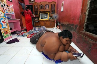 Arya Permana the obese 10 year old boy