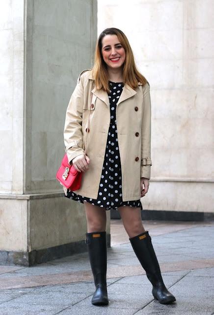 moda en botas para lluvia