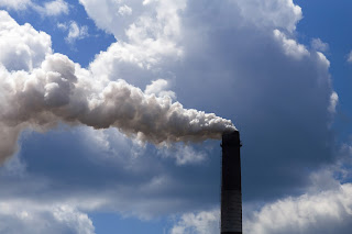 smoke stack with pollution emission