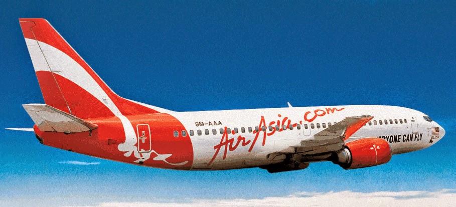 Gambar pesawat terbang Air Asia