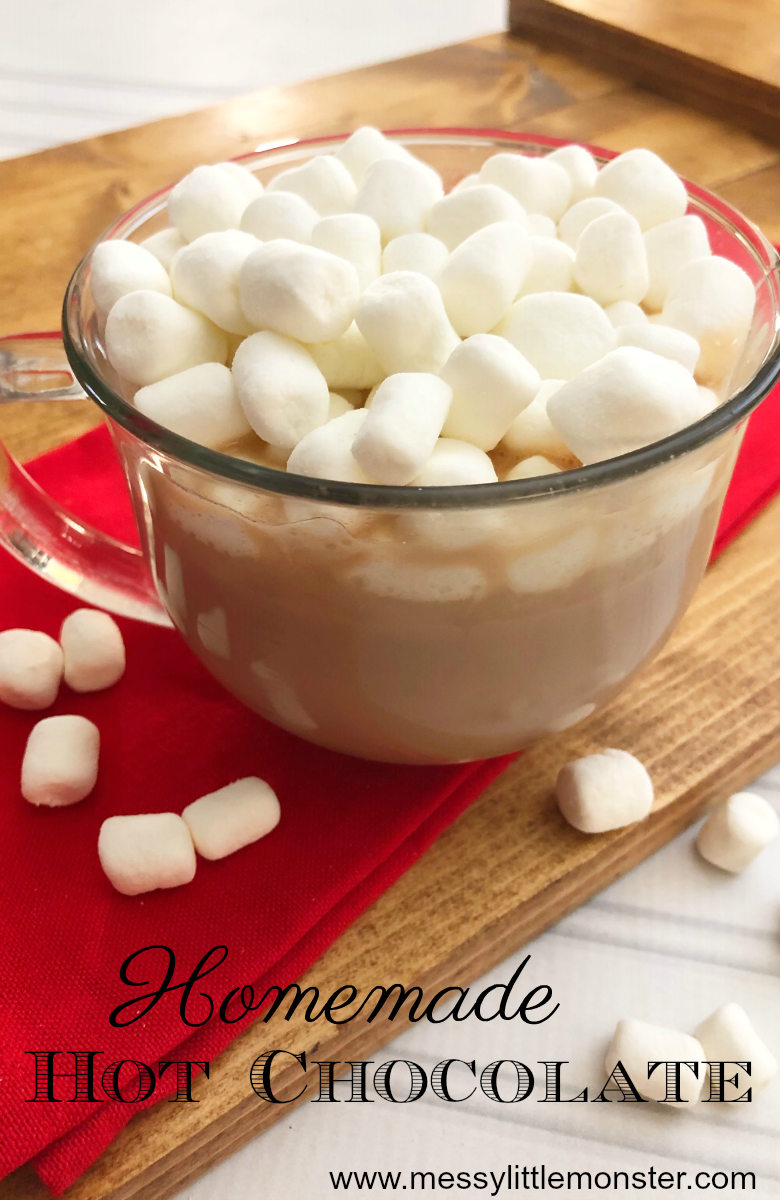 Homemade hot chocolate recipe. The best hot chocolate ever! Slow cooker hot chocolate.