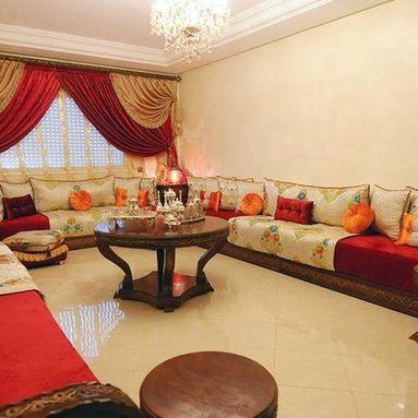 luxe traditionnel de salon marocain 2019 - decorationmarocains