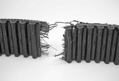 Mendeteksi kerusakan V-belt