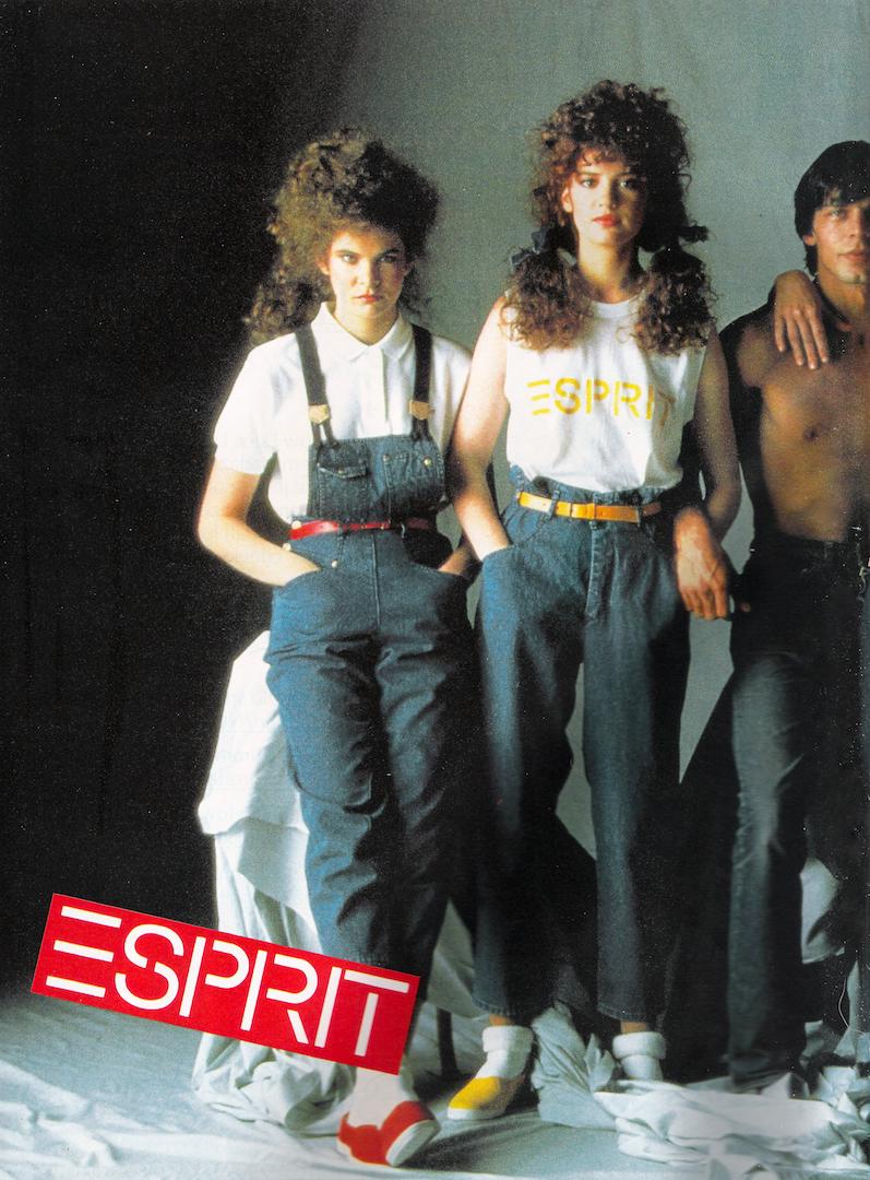 bcdea29d069b Glossy Sheen  Esprit Advertisement - Vogue Australia July 1982