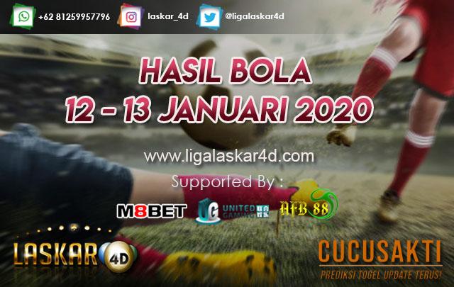HASIL BOLA JITU TANGGAL 12 – 13 JANUARI 2020