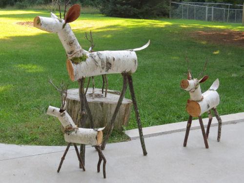 log deer
