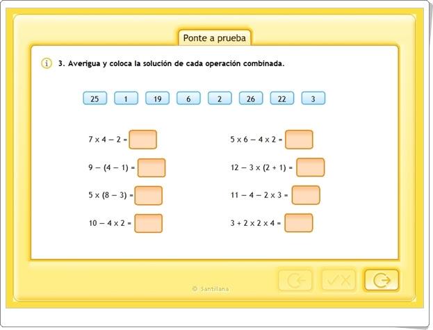 """""""Operaciones combinadas 2"""" (Matemáticas de 5º y 6º de Primaria)"""