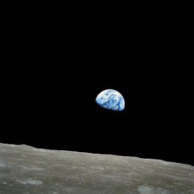 Earthrise taken on December 24, 1968